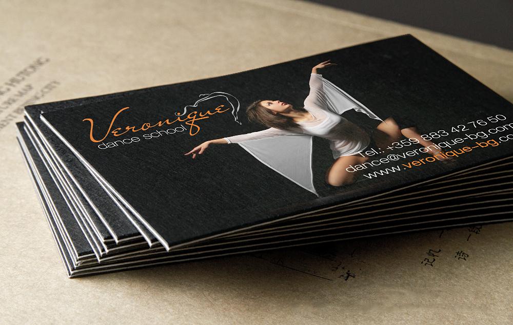 Изработка на визитни картички за школа по танци Вероник