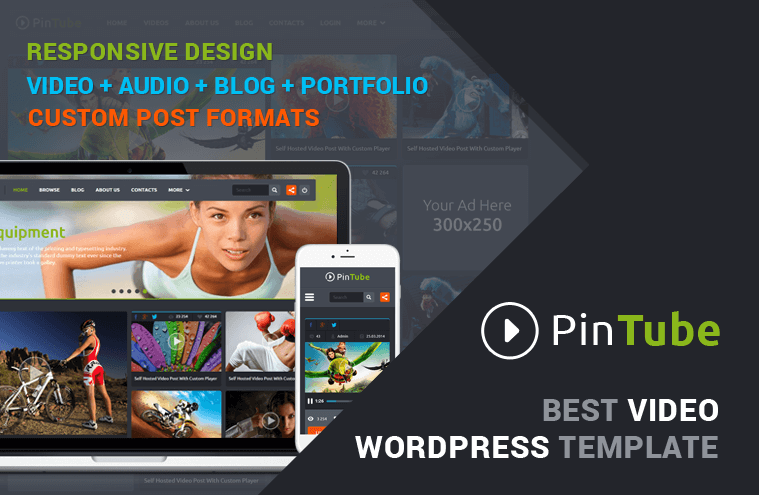 PinTube – HTML Themplate