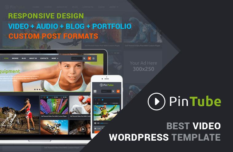 PinTube – HTML Themplate